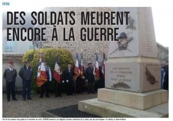 DES SOLDATS MEURENT ENCORE A LA GUERRE