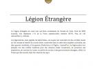 LES MORTS DE LA LÉGION ÉTRANGÈRE APRES 1963